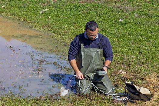 Altlastensanierung - Wasserqualität messen