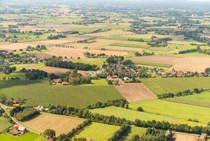 Luftaufnahmen der verwalteten Liegenschaften in Brandenburg