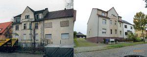 Konversion eines Wohnhauses